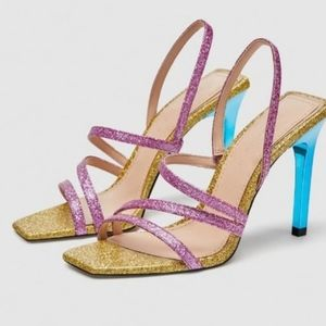 Zara Multi Color Strappy Heel
